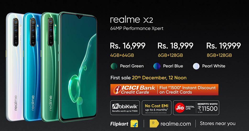 Realme X2 Pricing