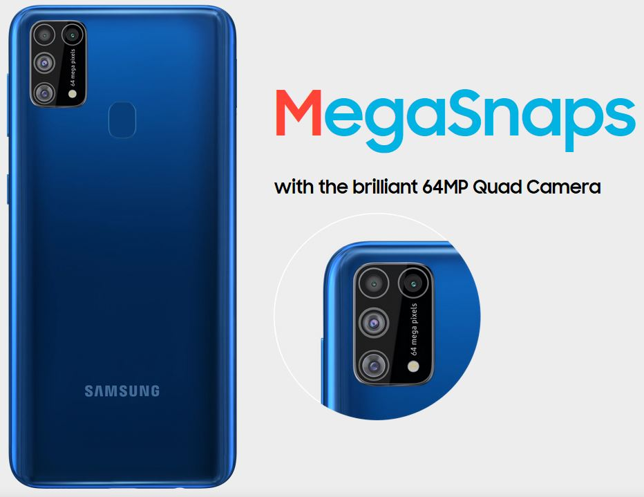 Samsung Galaxy M31 specs camera