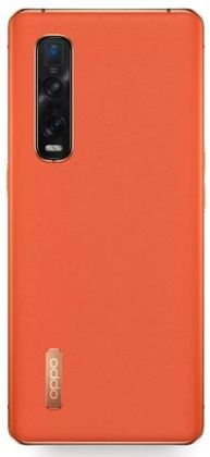 Oppo Find X2 Pro Orange Leather back
