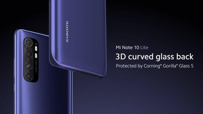 Mi Note 10 Lite Design