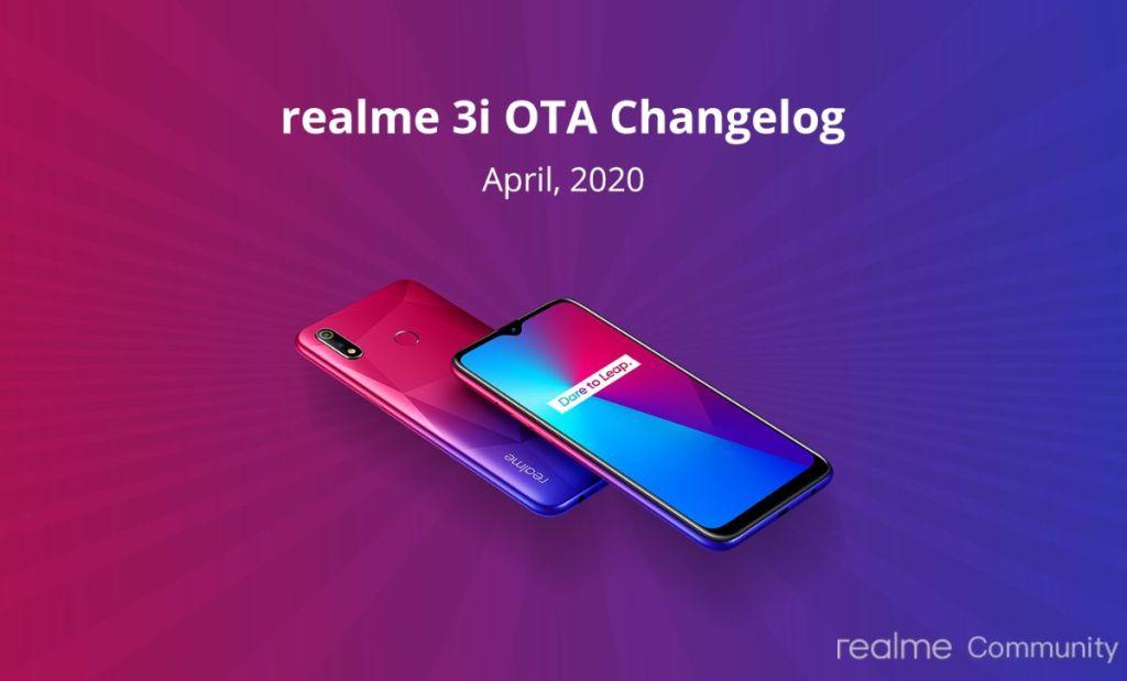 Realme 3i April Update