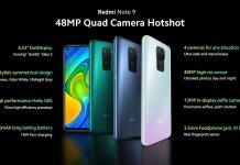 Redmi Note 9 Tech Specs