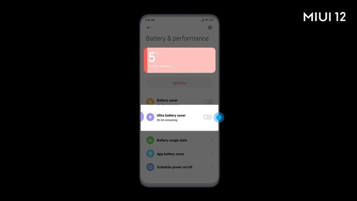 MIUI 12 Ultra Battery Saver