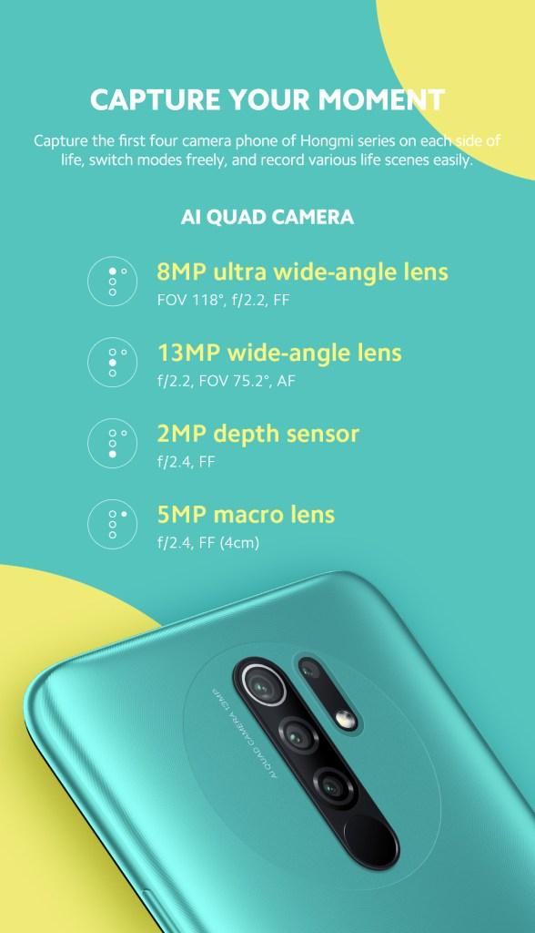 Redmi 9 cameras