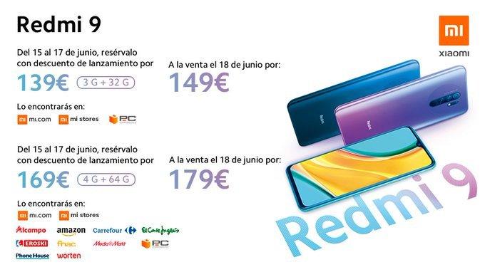Redmi 9 price in Europe