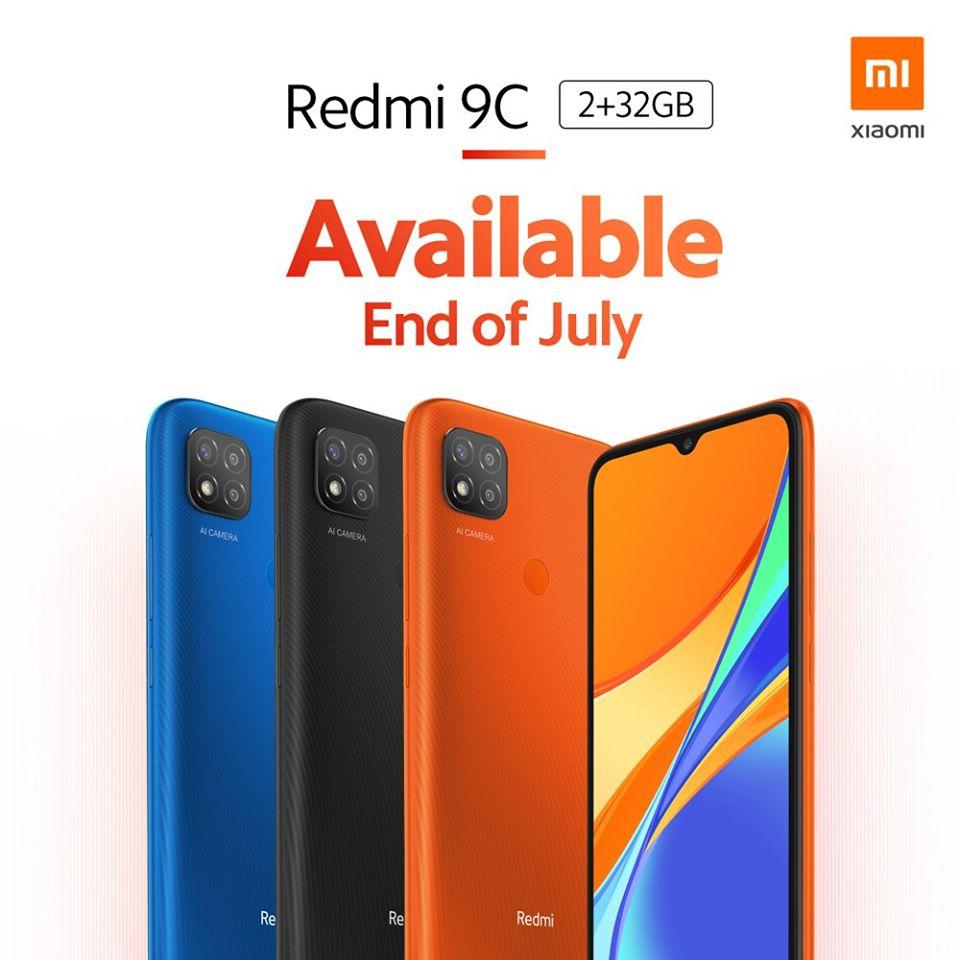 Redmi 9C colours