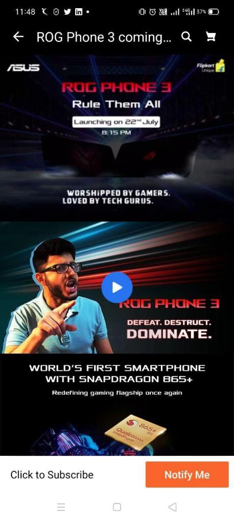 ASUS Rog Phone 3 launch date in India