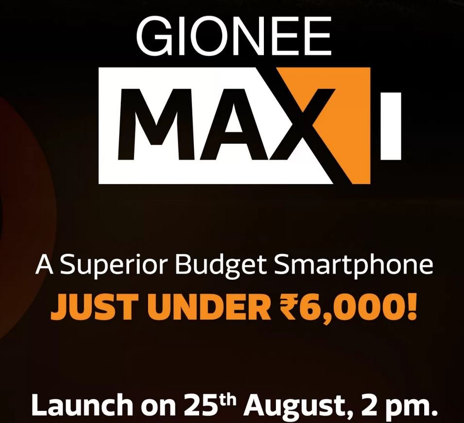 Gionee Max India launch date
