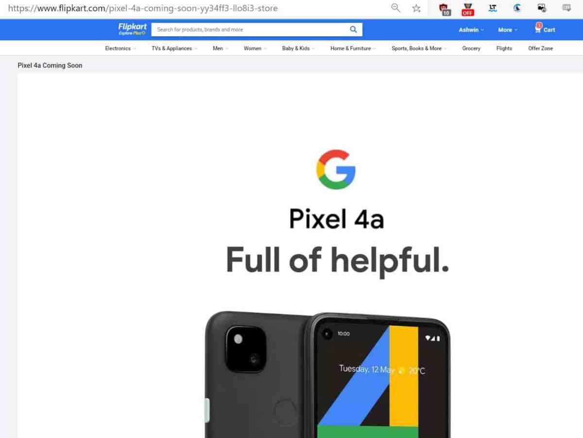 Google Pixel 4a India launch