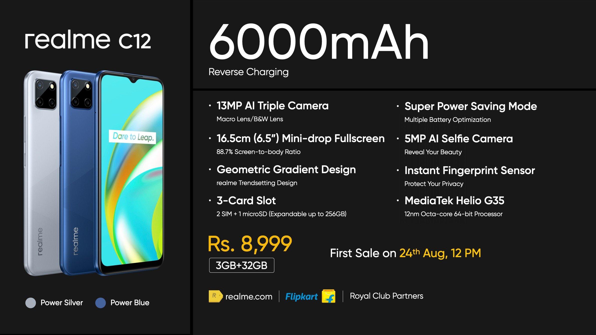 Realme C12 Price Specs