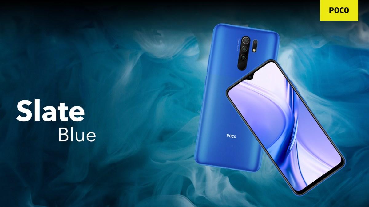 Poco M2 Slate Blue colour variant