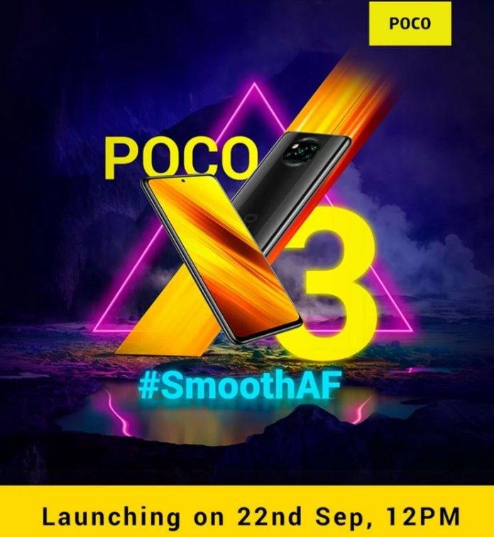 Poco X3 India launch date