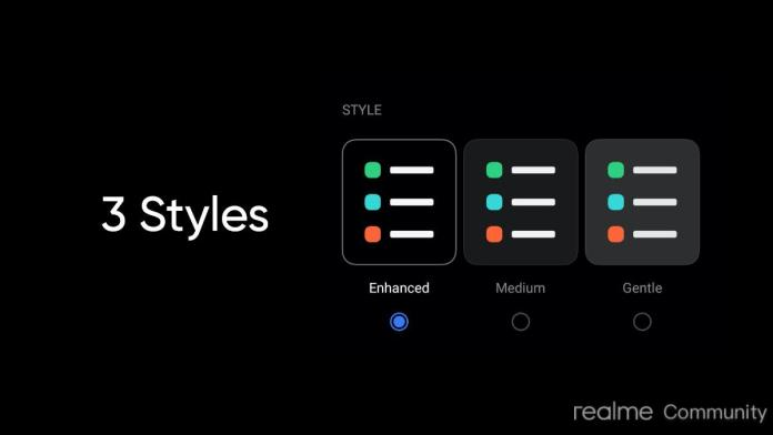 Realme UI 2.0 Update improved dark mode