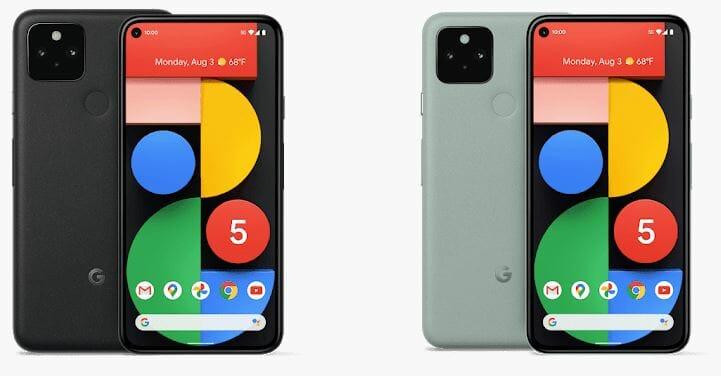 Google Pixel 5 Just Black and Sorta Sage