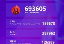 Huawei Mate 40 AnTuTu benchmark