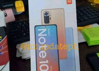 Redmi Note 10 design leaked box display camera