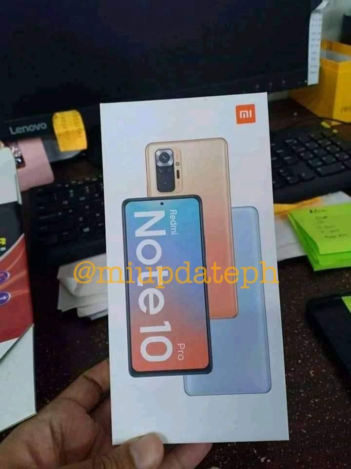 Redmi Note 10 Pro design leaked display camera
