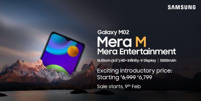 Samsung Galaxy M02 price in India