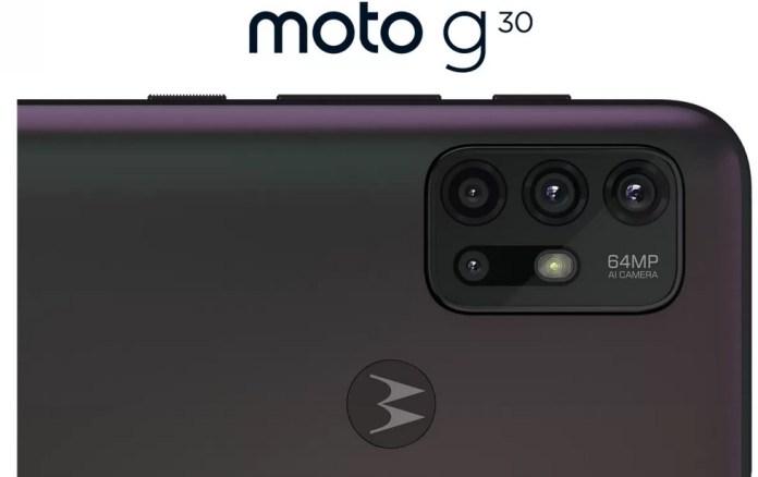 Moto G30 cameras