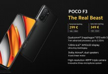 Poco F3 official price and specs
