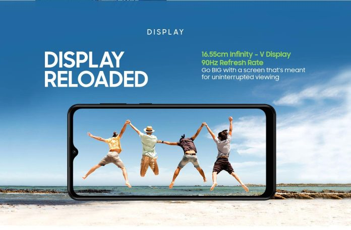 Samsung Galaxy M12 display