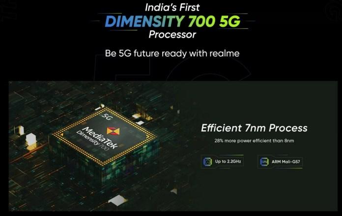 Realme 8 5G processor