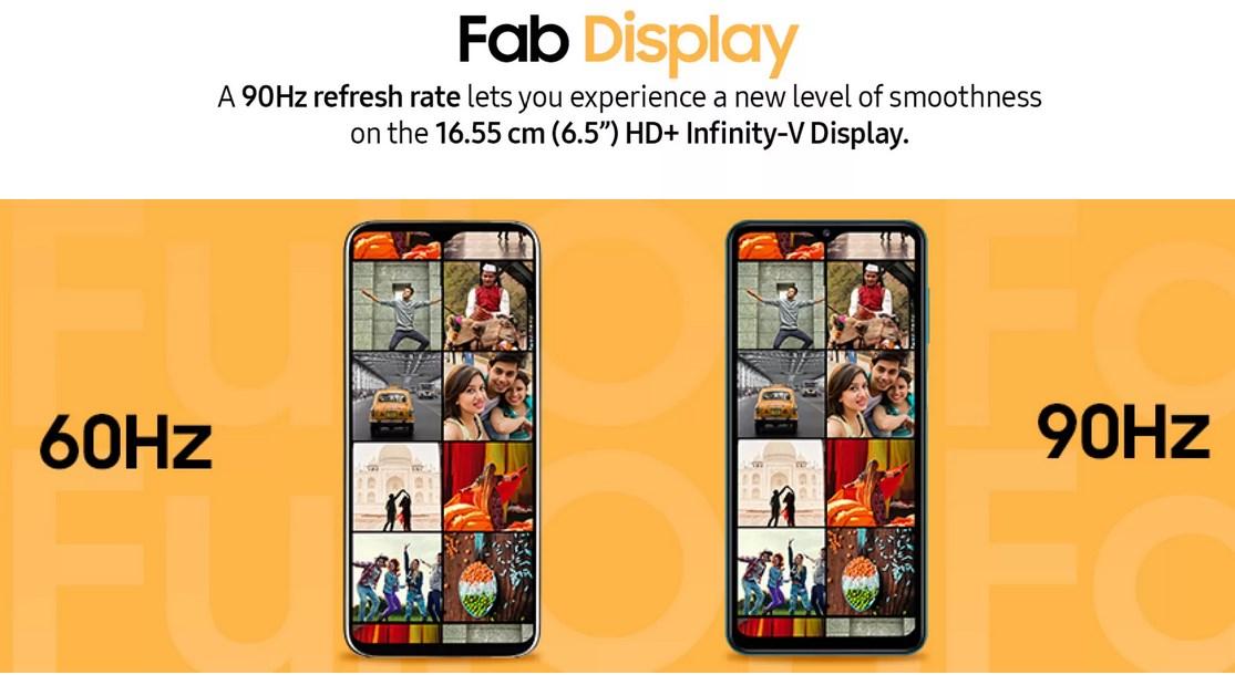 Samsung Galaxy F12 display