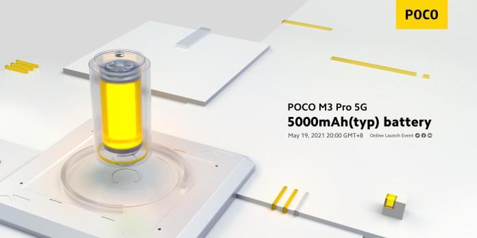 Poco M3 Pro 5G teaser specs battery