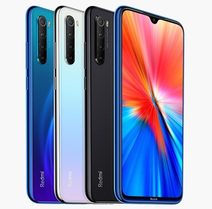 Redmi Note 8 2021 colour options