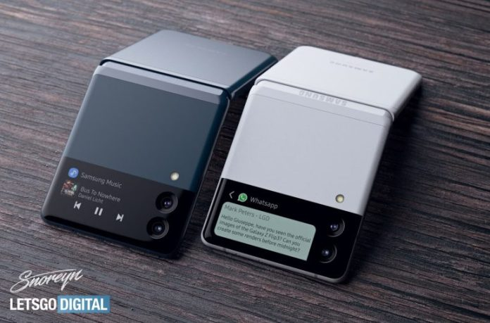 Samsung Galaxy Z Flip3 leaked render