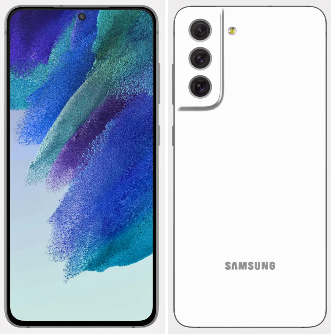 Leaked Samsung Galaxy S21 FE renders White