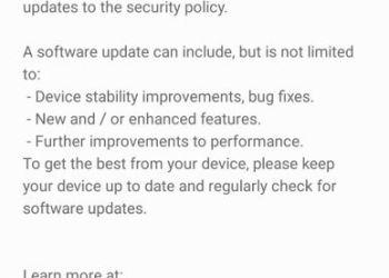 Samsung Galaxy A50 June update