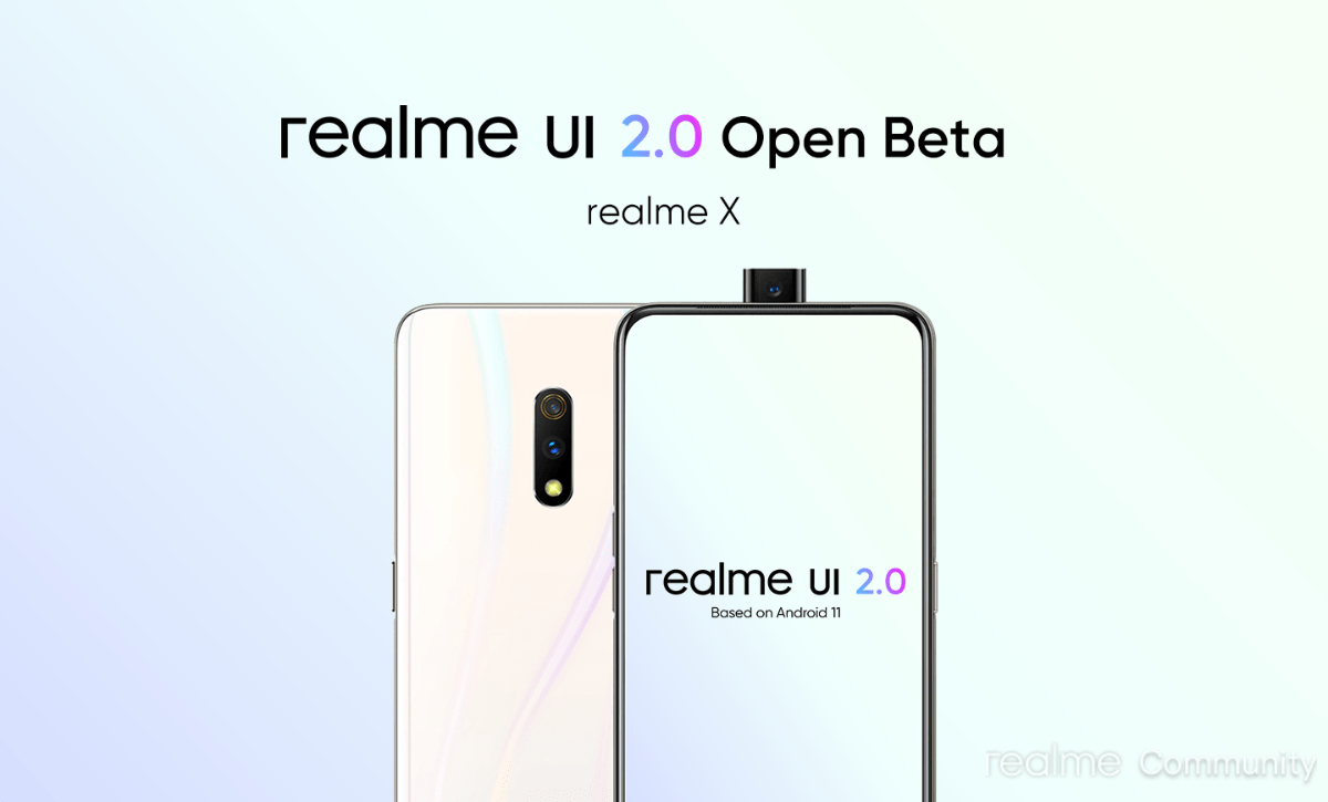 Open Beta program for Realme UI 2.0 Update for Realme X