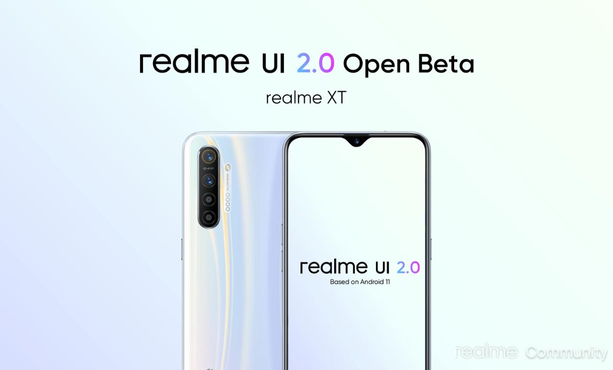 Open Beta program for Realme UI 2.0 Update for Realme XT