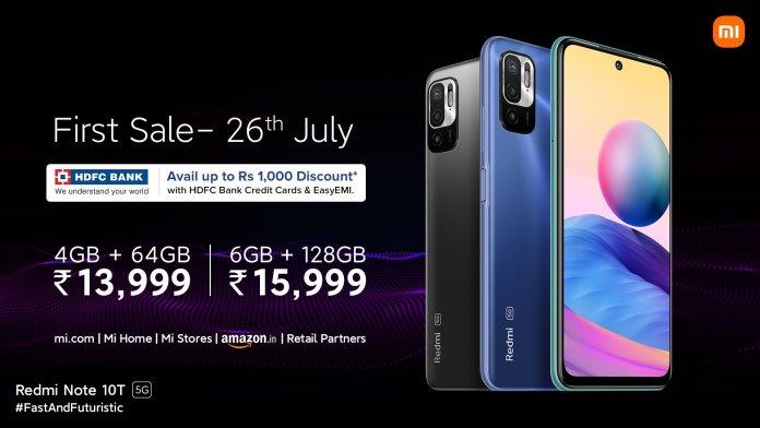 Redmi Note 10T 5G price in India