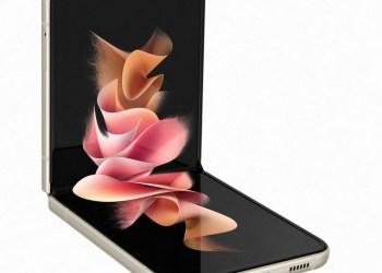 Samsung Galaxy Flip3 clamshell design side
