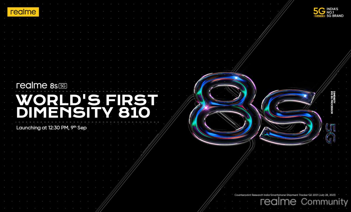 Realme 8s 5G launch date