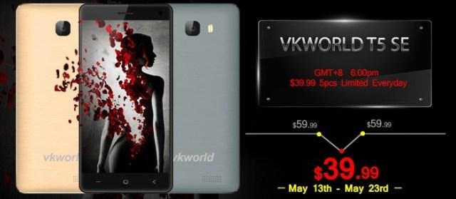 78 Vkworld T5 SE, telefon cu 4G si ecran HD la numai 160 lei!