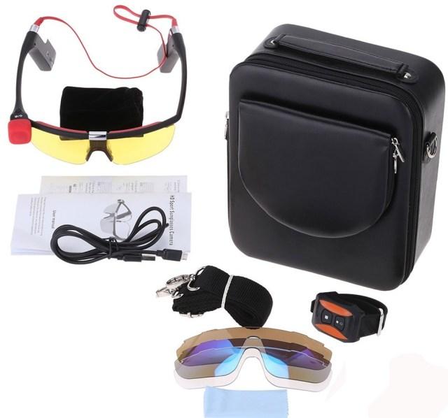 d3379-1-1c8 Camera video de actiune FHD Andoer incorporata in ochelari de soare