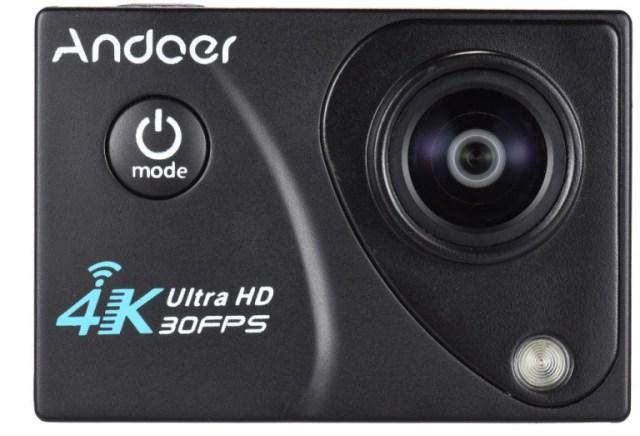 2-3-1 Camera de actiune Andoer 4K are o reducere de pret destul de mare