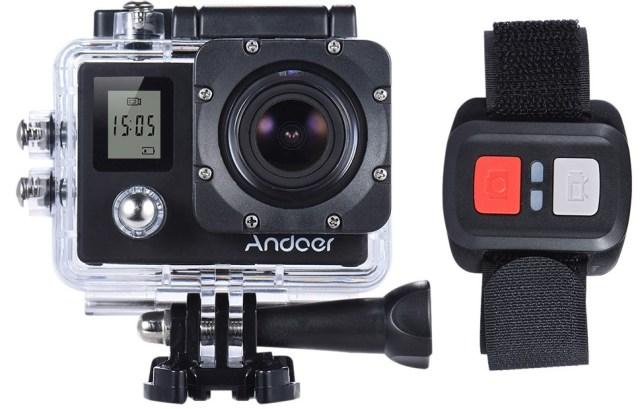 andoer-4k iata si o camera video androer sport, ieftina dar cu filmare 4k la 30 fps
