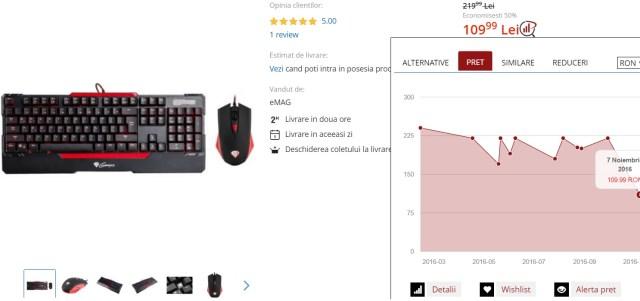 56664 Oferta eMag testata personal, tastatura iluminata Natec CX55, 50% reducere