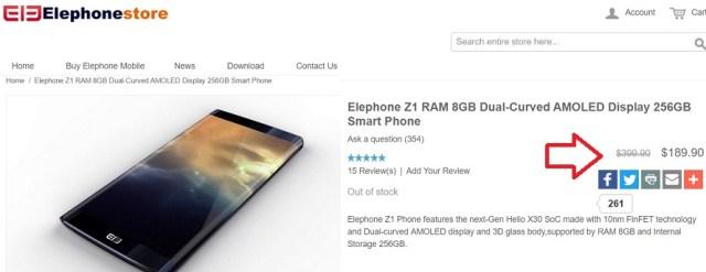Elephone Z1 cu pret mic, 8GB RAM si display AMOLED curbat