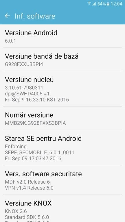 Samsung S6 Edge Plus, update oficial Nougat in Romania, exclusiv