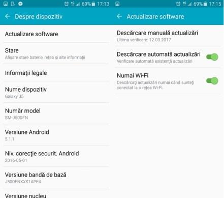 Samsung J5 SM J500 FM primeste update direct la Android Marshmallow