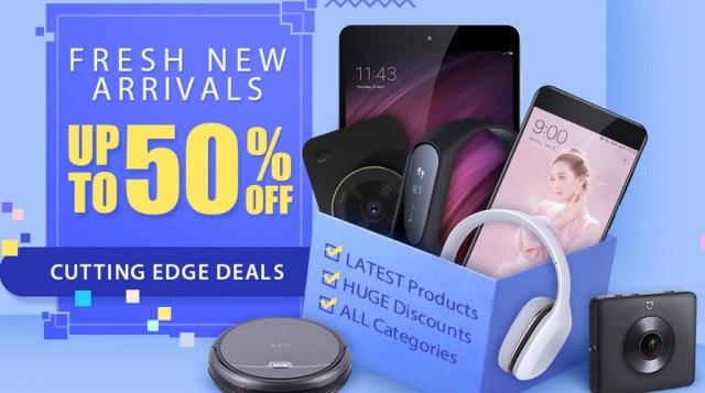 campanie pentru produsele noi aparute in magazinul gearbest