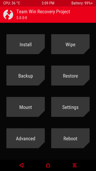 Theme twrp red