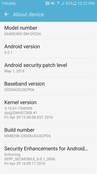 Download AT&T Galaxy S6 and S6 Edge Android 6.0.1 G920AUCU3CPD6