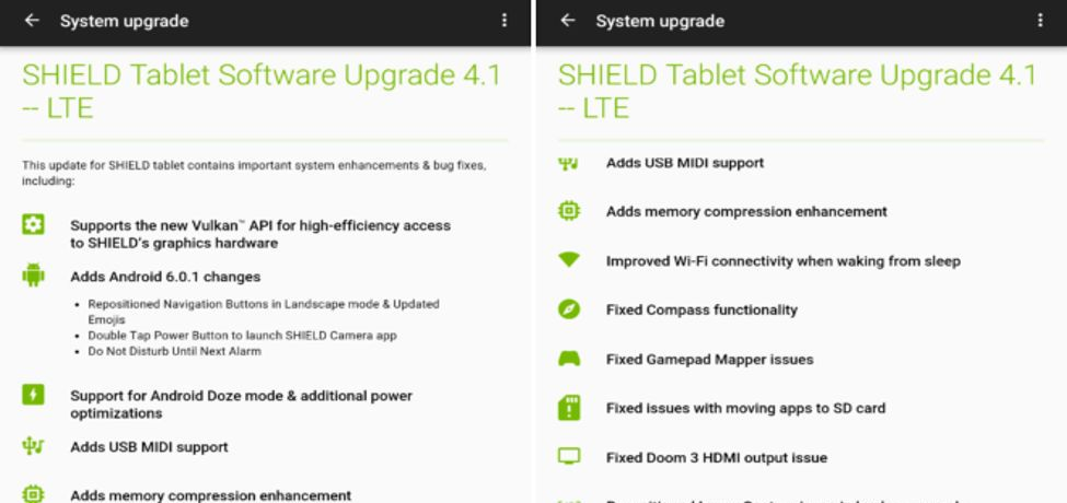 Install NVIDIA Shield Tablet Marshmallow Update 4.1 For WiFi and LTE Download Android 6.0.1