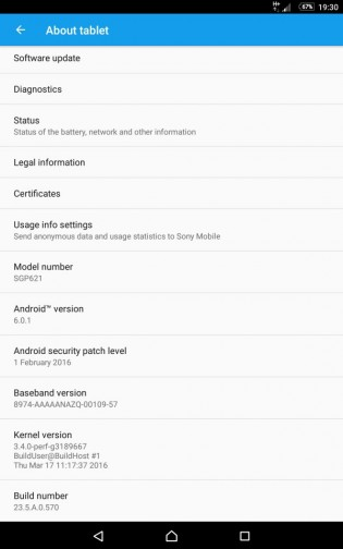 Xperia Z Tablet Compact Marshmallow